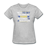 """Technically Alcohol is a Solution"" - Women's T-Shirt heather gray / S - LabRatGifts - 10"