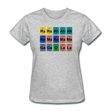 """Lady Gaga Periodic Table"" - Women's T-Shirt heather gray / S - LabRatGifts - 10"