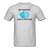 """Be Positive"" (black) - Men's T-Shirt heather gray / S - LabRatGifts - 3"