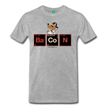 """BaCoN Periodic Table"" - Men's T-Shirt heather gray / S - LabRatGifts - 2"