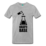 """Drop the Base"" (black) - Men's T-Shirt heather gray / S - LabRatGifts - 9"