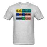 """Lady Gaga Periodic Table"" - Men's T-Shirt heather gray / S - LabRatGifts - 14"