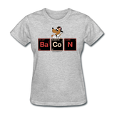 """Bacon Periodic Table"" - Women's T-Shirt heather gray / S - LabRatGifts - 14"