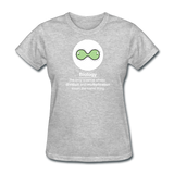 """Biology Division"" - Women's T-Shirt heather gray / S - LabRatGifts - 10"