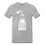 """Drop the Base"" (white) - Men's T-Shirt heather gray / S - LabRatGifts - 9"
