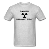 """Danger I'm Radiant Today"" - Men's T-Shirt heather gray / S - LabRatGifts - 7"