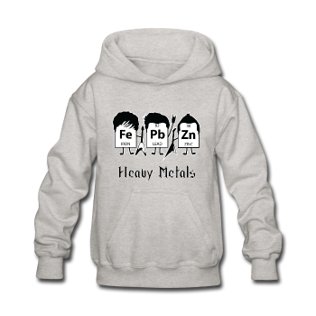 """Heavy Metals"" - Kids' Sweatshirt heather gray / S - LabRatGifts - 1"