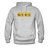 """NaH BrO"" - Men's Sweatshirt heather gray / S - LabRatGifts - 3"