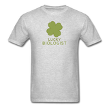 """Lucky Biologist"" - Men's T-Shirt heather gray / S - LabRatGifts - 7"
