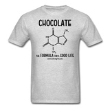 """Chocolate"" - Men's T-Shirt heather gray / S - LabRatGifts - 13"