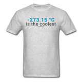 """-273.15 ºC is the Coolest"" (gray) - Men's T-Shirt heather gray / S - LabRatGifts - 3"