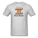 """Nice Rack"" - Men's T-Shirt heather gray / S - LabRatGifts - 6"
