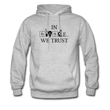 """In Science We Trust"" (black) - Men's Sweatshirt heather gray / S - LabRatGifts - 3"