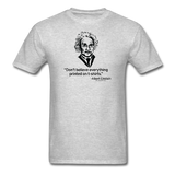"""Albert Einstein: T-Shirts Quote"" - Men's T-Shirt heather gray / S - LabRatGifts - 3"