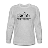 """In Science We Trust"" (black) - Men's Long Sleeve T-Shirt heather gray / S - LabRatGifts - 2"