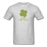 """Lucky Lab Tech"" - Men's T-Shirt heather gray / S - LabRatGifts - 7"