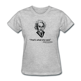 """Albert Einstein: That's What She Said"" - Women's T-Shirt heather gray / S - LabRatGifts - 6"