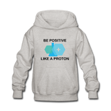 """Be Positive"" (black) - Kids' Sweatshirt heather gray / S - LabRatGifts - 2"