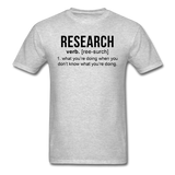"""Research"" (black) - Men's T-Shirt heather gray / S - LabRatGifts - 3"