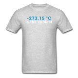 """-273.15 ºC is the Coolest"" (white) - Men's T-Shirt heather gray / S - LabRatGifts - 7"
