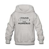 """I Found this Humerus"" - Kids' Sweatshirt heather gray / S - LabRatGifts - 2"