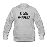 """E. Coli Happens"" (black) - Women's Sweatshirt heather gray / S - LabRatGifts - 5"