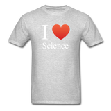 """I ♥ Science"" (white) - Men's T-Shirt heather gray / S - LabRatGifts - 11"