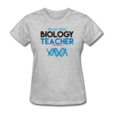 """World's Best Biology Teacher"" - Women's T-Shirt heather gray / S - LabRatGifts - 7"