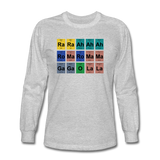 """Lady Gaga Periodic Table"" - Men's Long Sleeve T-Shirt heather gray / S - LabRatGifts - 2"