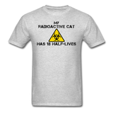 """My Radioactive Cat has 18 Half-Lives"" - Men's T-Shirt heather gray / S - LabRatGifts - 6"