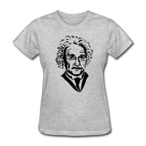 """Albert Einstein"" - Women's T-Shirt heather gray / S - LabRatGifts - 8"