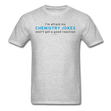 """Chemistry Jokes"" - Men's T-Shirt heather gray / S - LabRatGifts - 7"