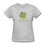 """Lucky Lab Tech"" - Women's T-Shirt heather gray / S - LabRatGifts - 7"