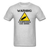 """Warning Compressed Gas Inside"" - Men's T-Shirt heather gray / S - LabRatGifts - 7"