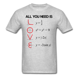 """All You Need is Love"" - Men's T-Shirt heather gray / S - LabRatGifts - 3"