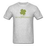 """Lucky Microbiologist"" - Men's T-Shirt heather gray / S - LabRatGifts - 7"