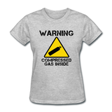 """Warning Compressed Gas Inside"" - Women's T-Shirt heather gray / S - LabRatGifts - 6"