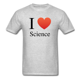 """I ♥ Science"" (black) - Men's T-Shirt heather gray / S - LabRatGifts - 3"