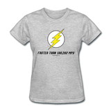 """Faster than 186,282 MPS"" - Women's T-Shirt heather gray / S - LabRatGifts - 6"