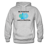 """Be Positive"" (black) - Men's Sweatshirt heather gray / S - LabRatGifts - 3"