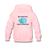 """Be Positive"" (black) - Kids' Sweatshirt pink / S - LabRatGifts - 1"