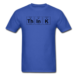"""ThInK"" (black) - Men's T-Shirt royal blue / S - LabRatGifts - 9"