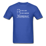 """Technically the Glass is Full"" - Men's T-Shirt royal blue / S - LabRatGifts - 6"