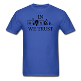 """In Science We Trust"" (black) - Men's T-Shirt royal blue / S - LabRatGifts - 6"