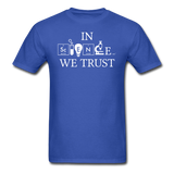 """In Science We Trust"" (white) - Men's T-Shirt royal blue / S - LabRatGifts - 7"
