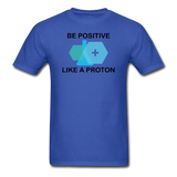 """Be Positive"" (black) - Men's T-Shirt royal blue / S - LabRatGifts - 12"