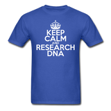 """Keep Calm and Research DNA"" (white) - Men's T-Shirt royal blue / S - LabRatGifts - 3"