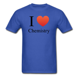 """I ♥ Chemistry"" (black) - Men's T-Shirt royal blue / S - LabRatGifts - 7"