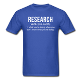 """Research"" (white) - Men's T-Shirt royal blue / S - LabRatGifts - 8"