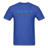 """-273.15 ºC is the Coolest"" (gray) - Men's T-Shirt royal blue / S - LabRatGifts - 5"